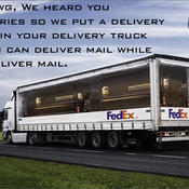 Fedex truck yo dawg